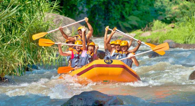 4 in 1 Rafting & ATV jungle trip with cave temple visit